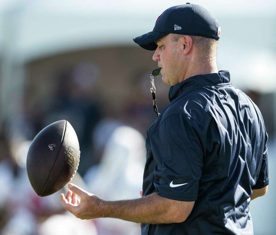 Coach Bill O'Brien is focused on another AFC South title and promises the team will work hard toward that end. The Texans open training camp Wednesday. Photo: Brett Coomer, Staff / © 2016 Houston Chronicle