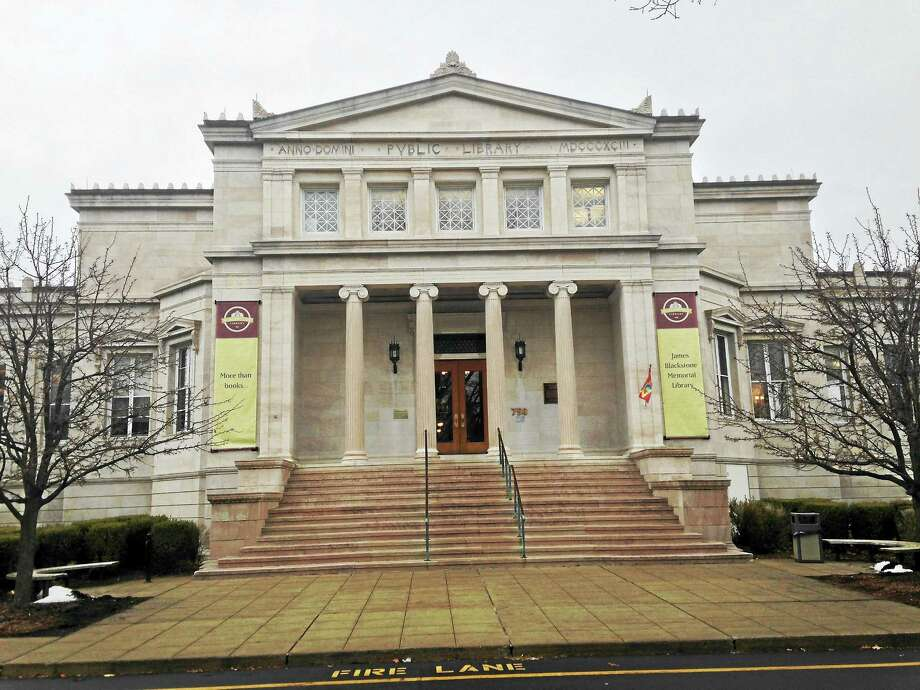 The James Blackstone Memorial Library on Main Street in Branford was built in 1986. Photo: Journal Register Co.