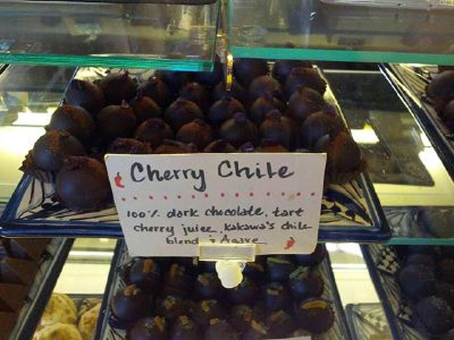 At Kakawa Chocolate House in Santa Fe, N.M., truffles with a spicy kick are a popular item. Photo: The Washington Post / THE WASHINGTON POST