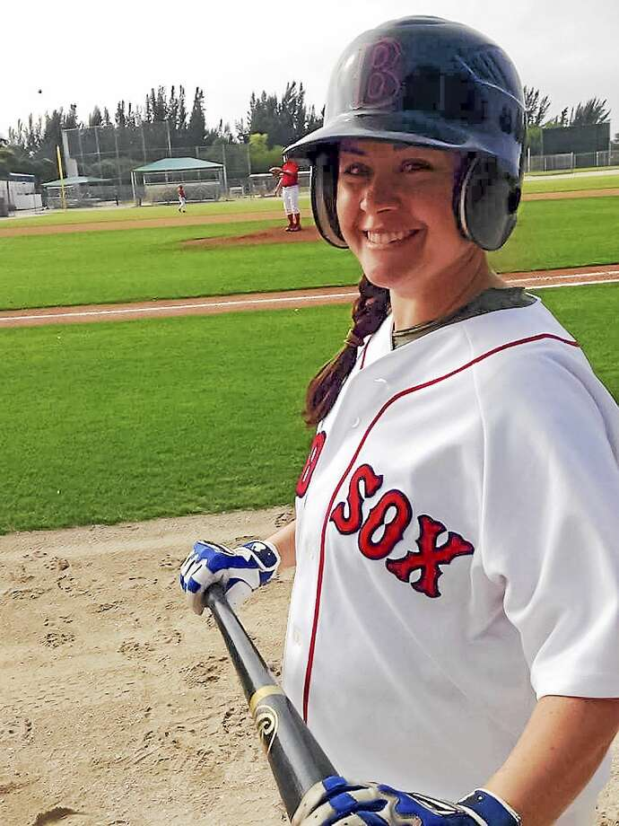 Contributed photo)The Wounded Warrior Project raises money for scholarships to send veterans to the Boston All-Star Baseball Camp in Fort Myers, Fla. run by the Red Sox. Shown here is Denise Florio, who is a scholarship camper. Photo: Journal Register Co.