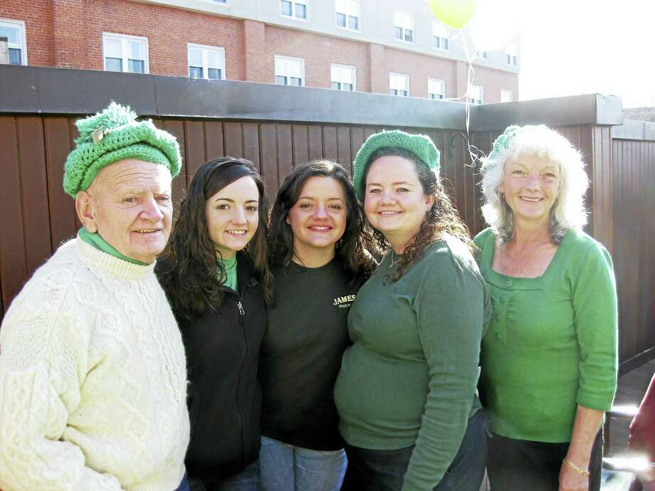 From left, Colleen Hine's famile: John Hines (father), Anne LaTerra, Kerri Hines, Colleen Hines, and Anne Hines (mother). Courtesy photo from Hines. Photo: Journal Register Co.