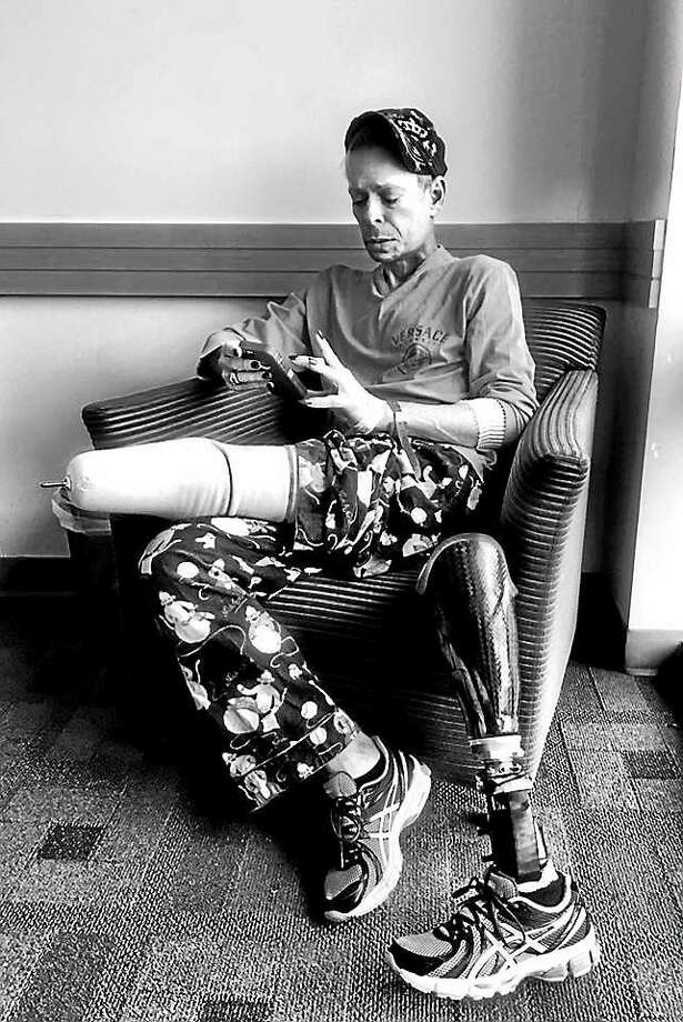 Quiet time before MRI. Photo by Kenn Hopkins Photo: Journal Register Co.