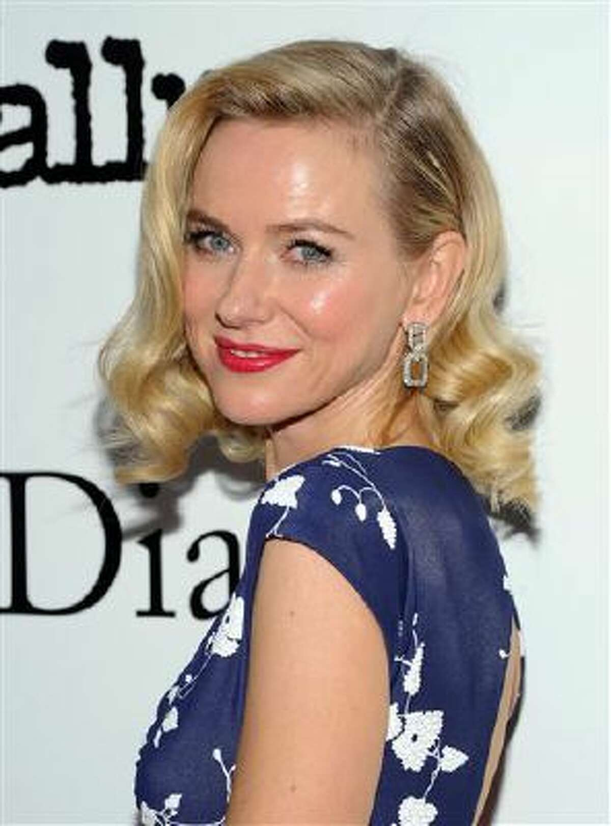 """Actress Naomi Watts attends the premiere of """"Diana"""" hosted by The Cinema Society, Linda Wells and Allure Magazine at the SVA Theater on Wednesday, Oct. 30, 2013 in New York."""