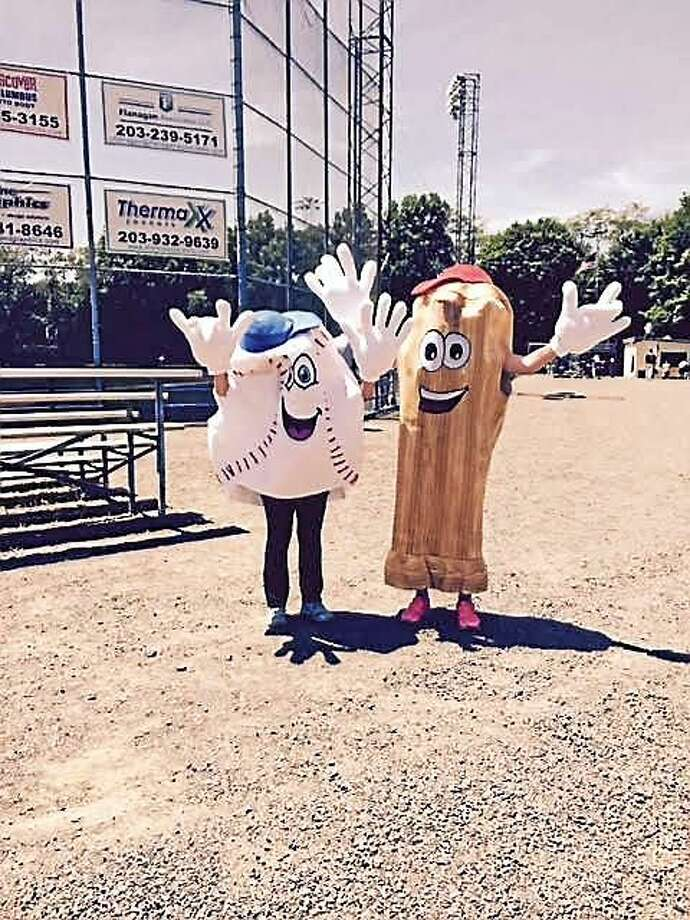 The mascots at Quigley Stadium, 362 Front Ave., West Haven, where the West Haven Twilight League plays Photo: Journal Register Co.