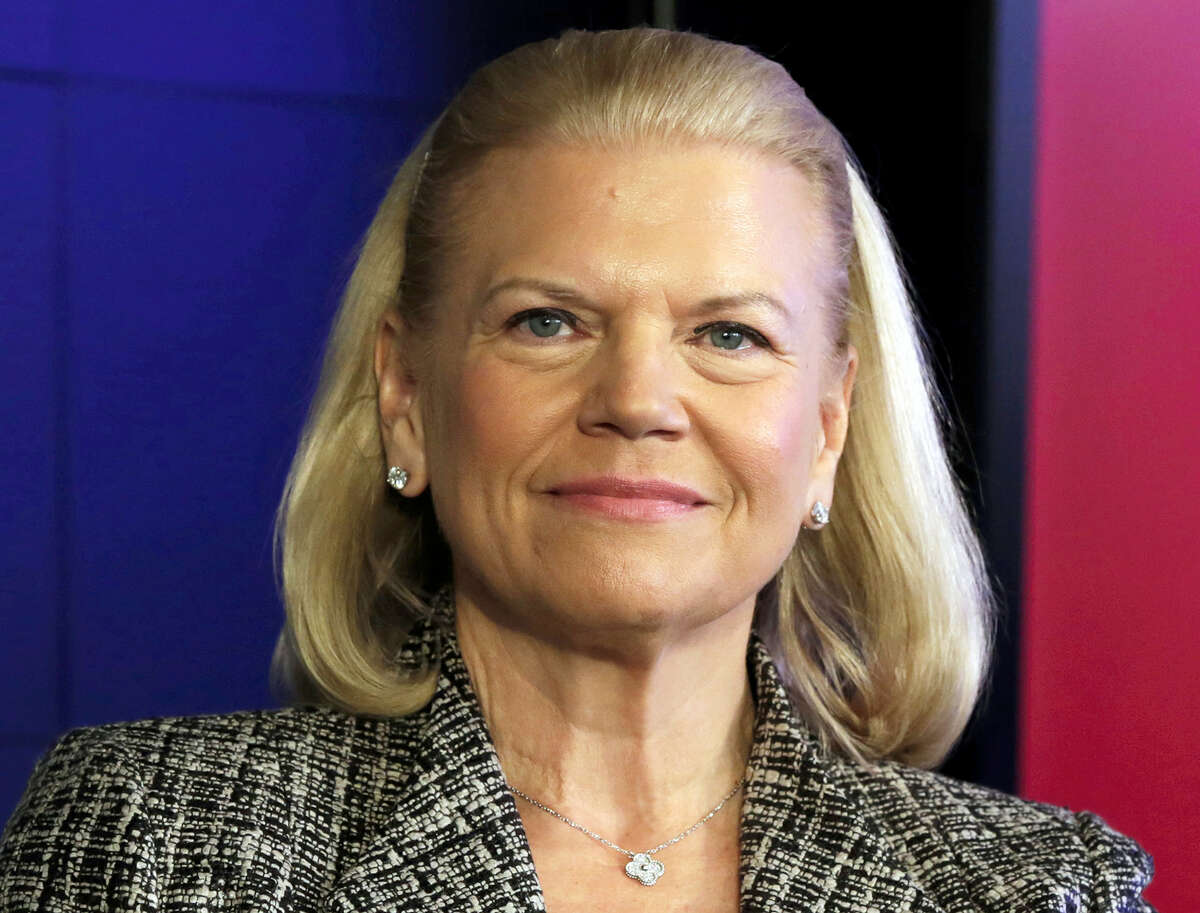 FILE - In this Thursday, April 30, 2015, file photo, IBM CEO Virginia Rometty participates in a news conference at IBM Watson headquarters, in New York. Rometty was one of the highest paid CEOs in 2016, according to a study carried out by executive compensation data firm Equilar and The Associated Press. (AP Photo/Richard Drew, File)