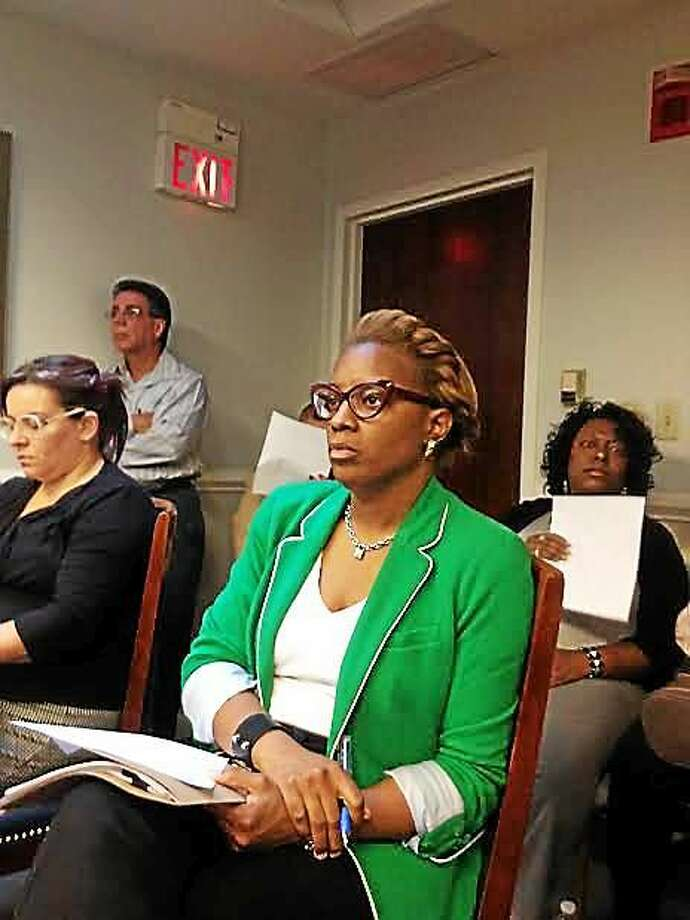 Shenae Draughn of Elm City Communities will be the point person on moving Church Street South tenants out of hotels. (Mary O'Leary - New Haven Register) Photo: Journal Register Co.