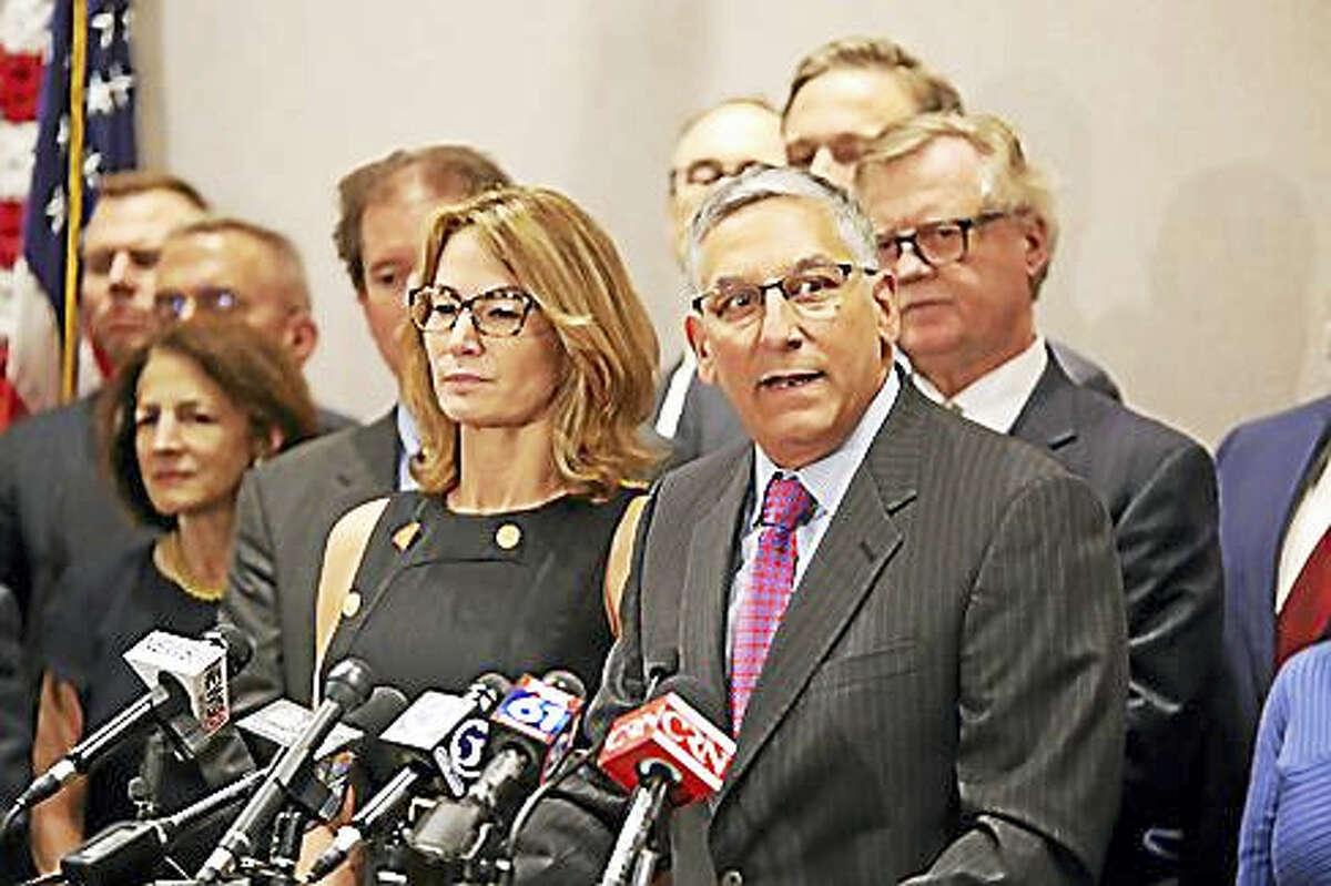 Christine Stuart / ctnewsjunkieSenate Republican President Len Fasano and House Minority Leader Themis Klarides
