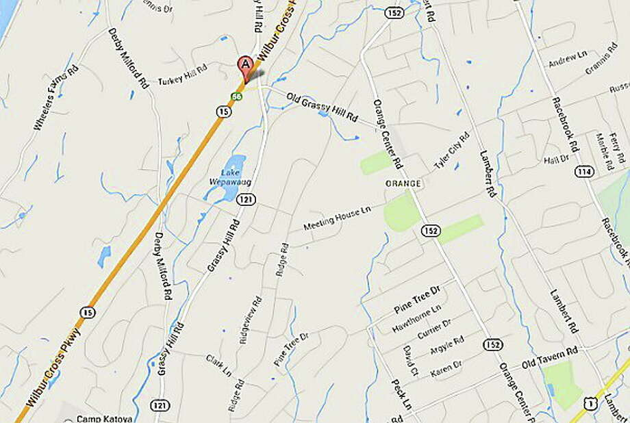 A map of the site where a North Haven woman died in a crash on Route 15 this weekend. Photo: Journal Register Co.