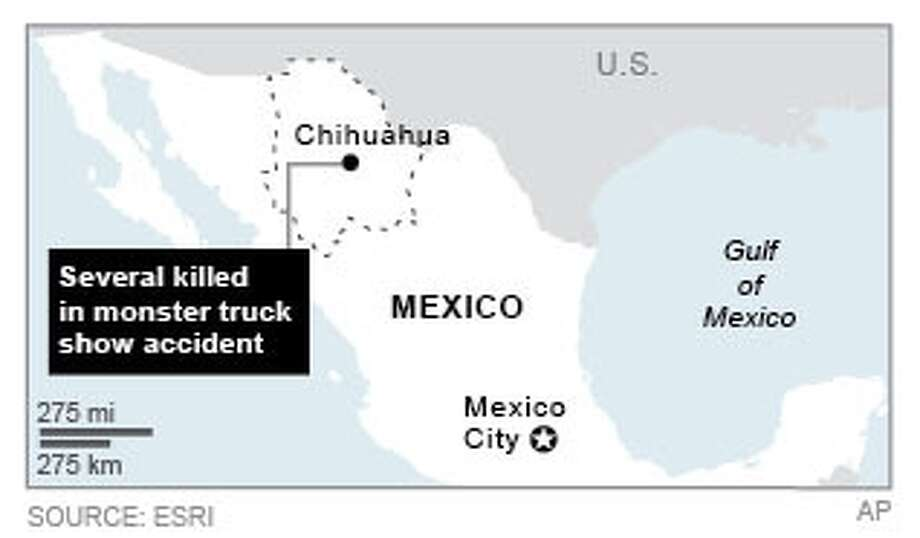 Graphic locates Chihuahua, where fatal accident took place; 2c x 2 inches; 96.3 mm x 50 mm; Photo: AP / AP