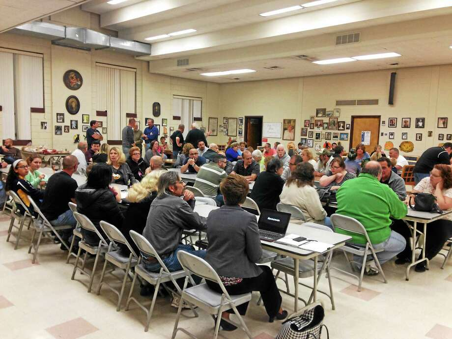 East Haven residents, filled the town community center for a Inland Wetland and Watercourse Commission meeting on Wednesday, Oct. 14. (Juliemar Ortiz, New Haven Register Staff Writer) Photo: Journal Register Co.