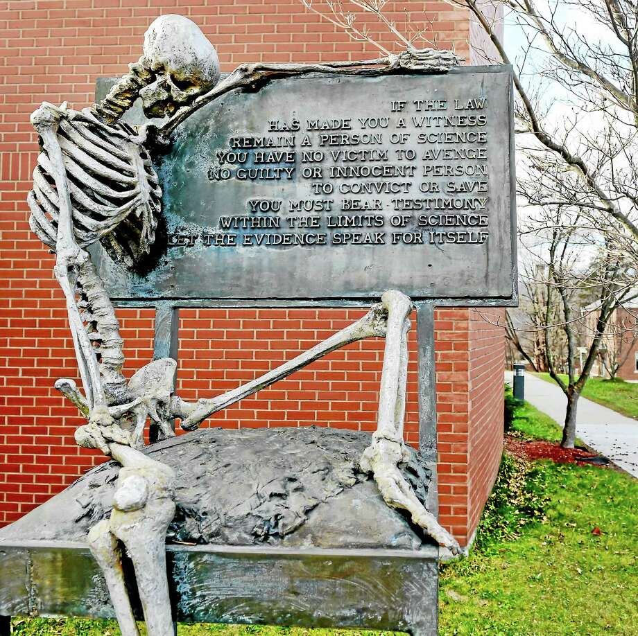 "(Peter Hvizdak - New Haven Register)A monument to ""The Witness"" at the  State of Connecticut Department of Emergency Services and Public Protection, Division of Scientific Services in MeridenTuesday, November 15, 2015. Photo: ©2015 Peter Hvizdak / ?2015 Peter Hvizdak"