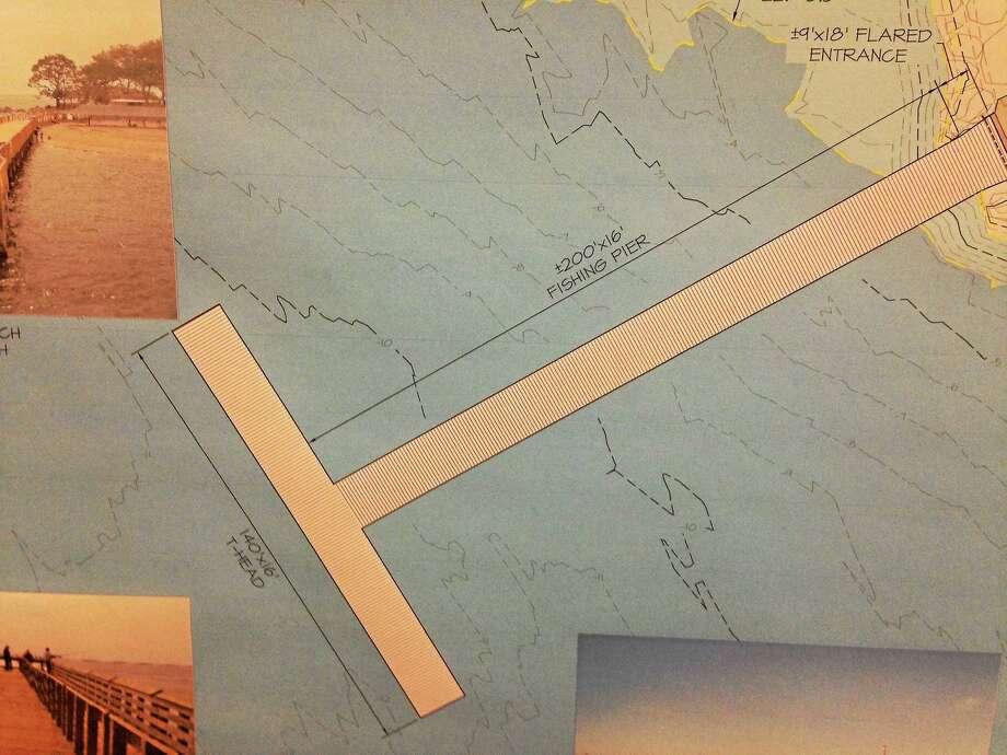 """T"" shape design for Fort Hale Pier. Photo: Journal Register Co."
