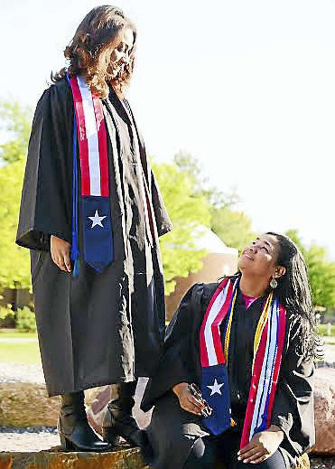 (Contributed photo - Ismael Melendez) Mother Elizabeth Reyes and daughter Angélique Quiñones will walk in the same graduation ceremony at Southern Connecticut State University. Photo: Journal Register Co.