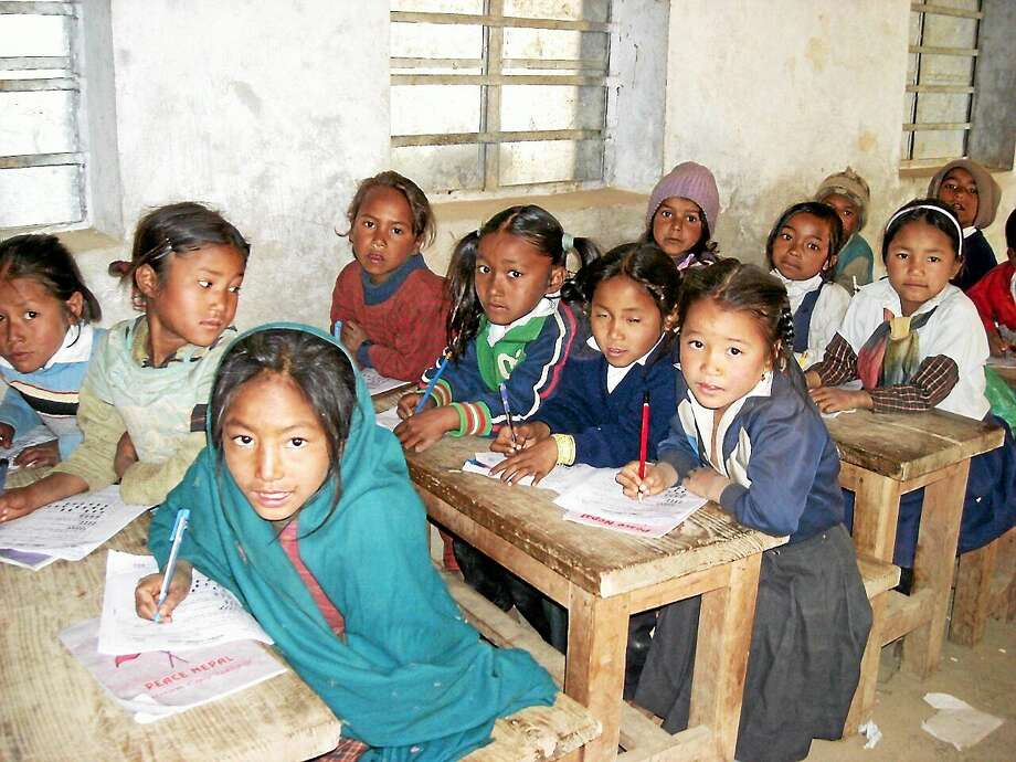 (Contributed photo) Girls' classroom in Durga School, Dolakha, Nepal Photo: Journal Register Co.