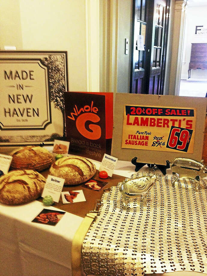 A display of New Haven products at the New Haven Museum Mary O'Leary - New Haven Register Photo: Journal Register Co.