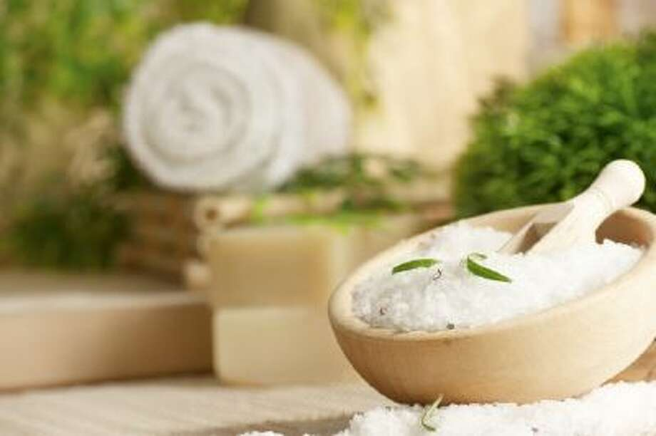 Wash off winter's weariness with bath salts.