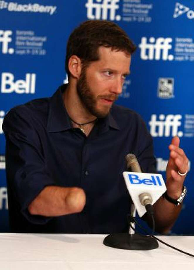 "Aron Ralston speaks at ""127 Hours"" press conference during the 2010 Toronto International Film Festival on September 12, 2010."