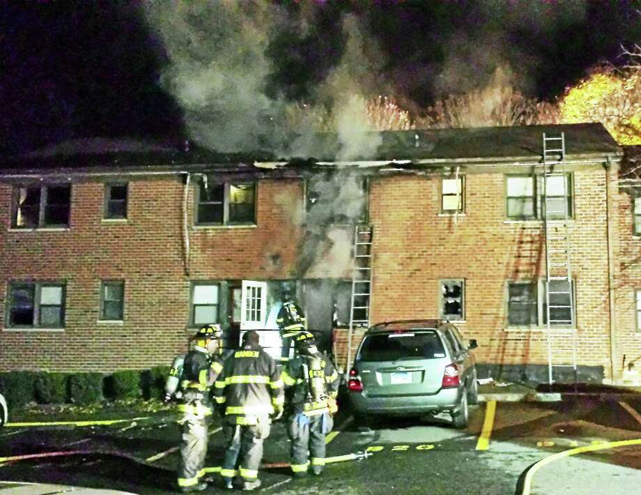 (Anna Bisaro/New Haven Register) A fire broke out late Monday at 629 Mix Ave. in Hamden. No one was hurt but at least four apartments were damaged and several families were displaced. Photo: Digital First Media