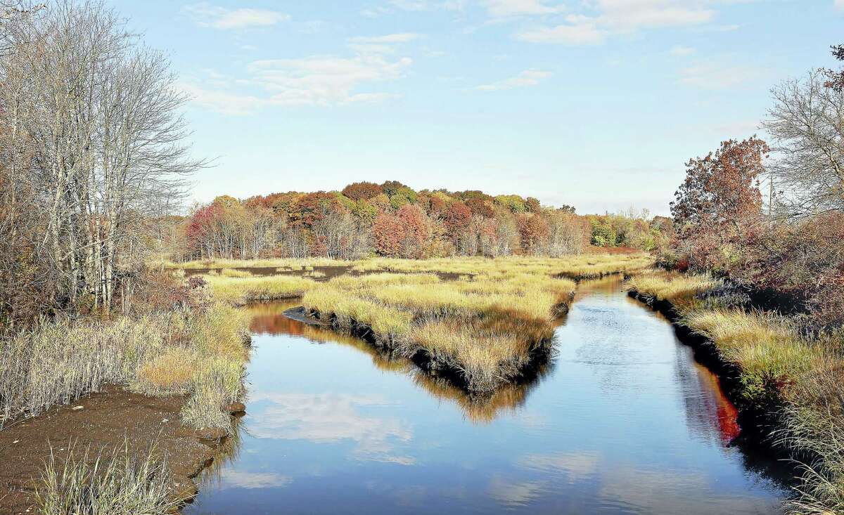(Arnold Gold-New Haven Register) The Cove River and surrounding marsh land in West Haven photographed on 11/5/2016.