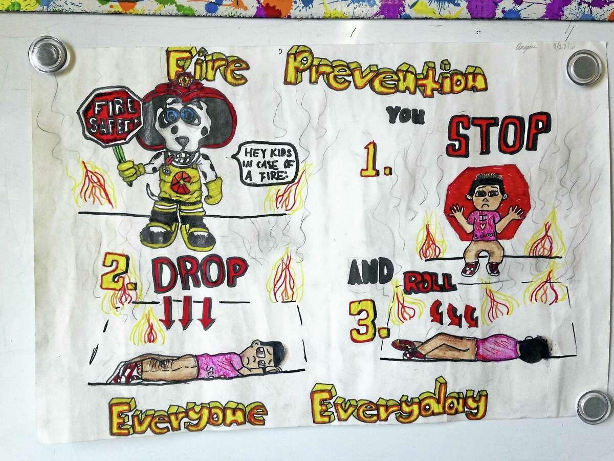 Winning poster in the fifth grade by Anajae Langley, Quinnipiac STEM School.