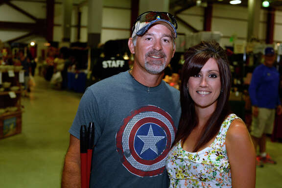 Mark and Christy Duran at the Southeast Texas Great Outdoors Expo at Ford Park on Saturday.  Photo taken Saturday 7/22/17 Ryan Pelham/The Enterprise