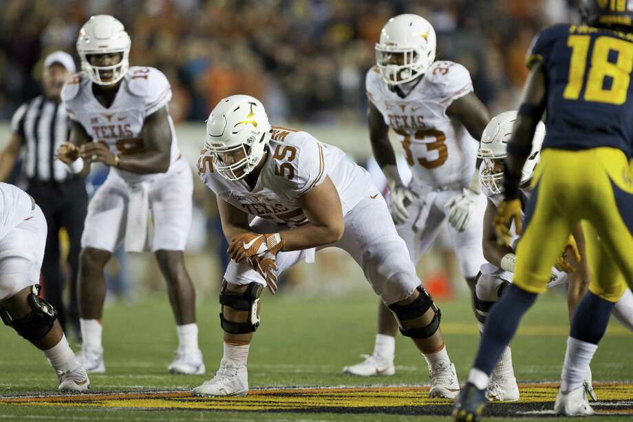 BERKELEY, CA - SEPTEMBER 17:  Offensive lineman Connor Williams #55 of the Texas Longhorns waits for the snap against the California Golden Bears in the fourth quarter on September 17, 2016 at California Memorial Stadium in Berkeley, California.  Cal won 50-43.  (Photo by Brian Bahr/Getty Images) Photo: Brian Bahr, Stringer / Getty Images / 2016 Getty Images