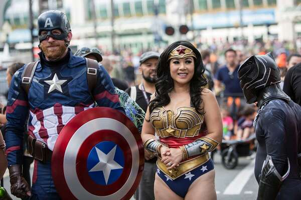 Costumed fans attend Comic-Con International - Day 2 on July 21, 2017 in San Diego, California.