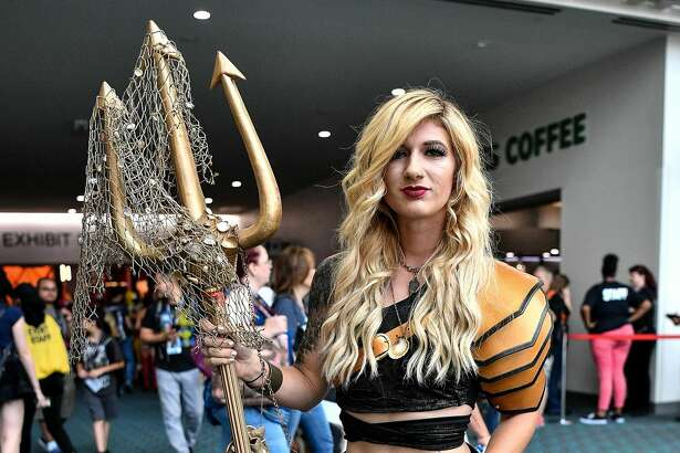 A cosplayer attends the 2017 Comic-Con International at the San Diego Convention Center on July 22, 2017 in San Diego, California.