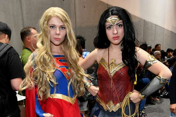Cosplayers attend the 2017 Comic-Con International at the San Diego Convention Center on July 22, 2017 in San Diego, California.