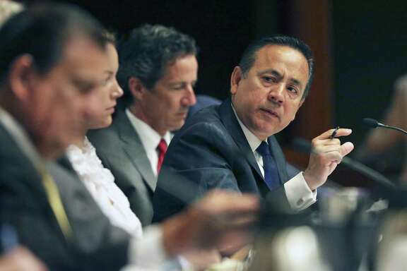 State Sen. Carlos Uresti (right) is expected to testify in a bankruptcy court trial over a lawsuit a trustee has brought on behalf of FourWinds Logistics.  Uresti has been criminally charged in connection with his involvement in FourWinds.