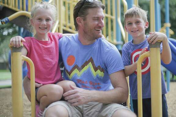 Ben Andrews, with his kids Addison and Caleb, was diagnosed with glioblastoma two years ago.