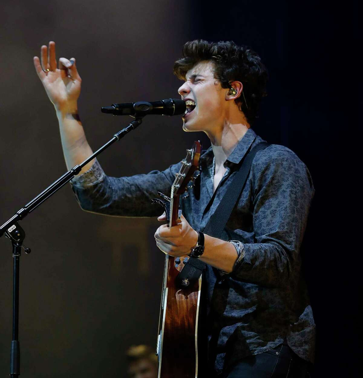 Shawn Mendes performs at the Toyota Center, Saturday, July, 22, 2017.