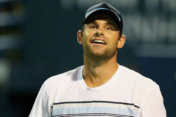 NEW HAVEN, CT - AUGUST 27:  Andy Roddick looks on during his match against James Blake as part of the Men's Legends presented by PowerShares Series on Day 4 of the Connecticut Open at Connecticut Tennis Center at Yale on August 27, 2015 in New Haven, Connecticut.  (Photo by Maddie Meyer/Getty Images) ORG XMIT: 557246667
