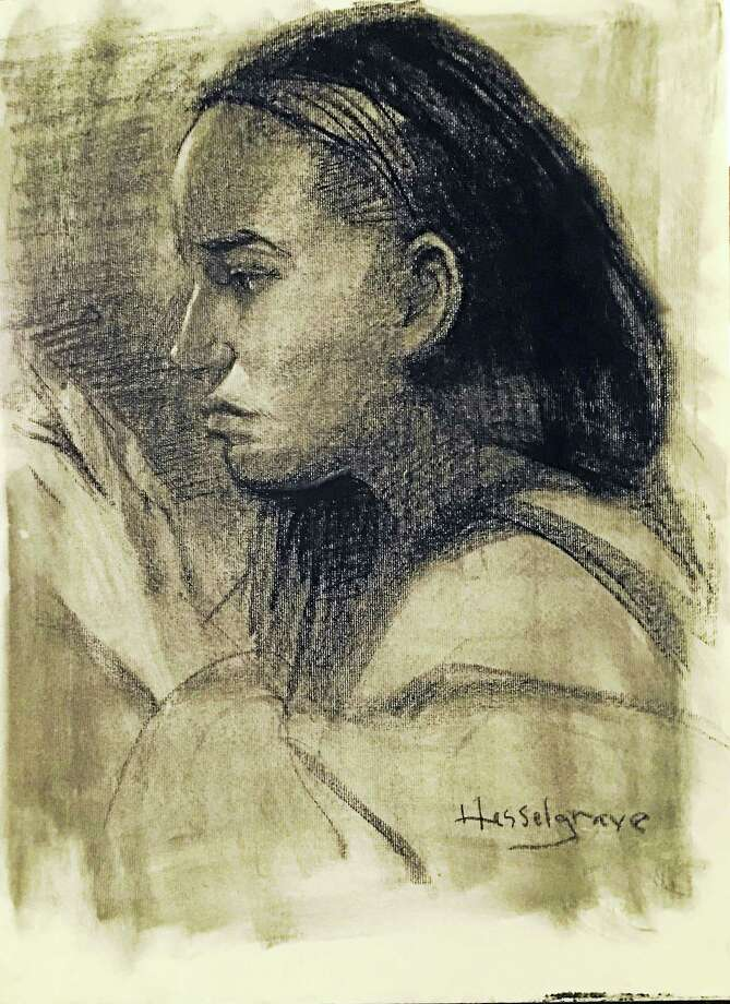 CHARCOAL, LIVE: Hamden Art League artist Lisa Hess Hesselgrave will present 'Portrait Drawing in Charcoal' Tuesday evening in the Social Hall of the Miller Library Senior Center, 2901 Dixwell Ave., Hamden. Refreshments and socializing begin at 7, followed by a brief business meeting at 7:15 and the artist's program at 7:3. The evening is free and open to the public. Photo: Digital First Media