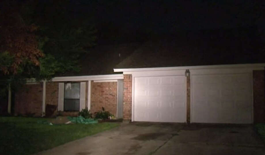 Lightning caused a small house fire late Saturday night. Photo: Metro Video