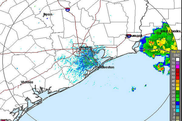 The NWS radar shows storms in Louisiana, which could be headed for the Houston area.