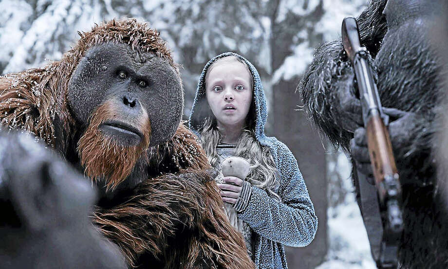 "Karin Konoval, left, and Amiah Miller in ""War for the Planet of the Apes."" Photo: Twentieth Century Fox   / TM & © 2017 Twentieth Century Fox Film Corporation."