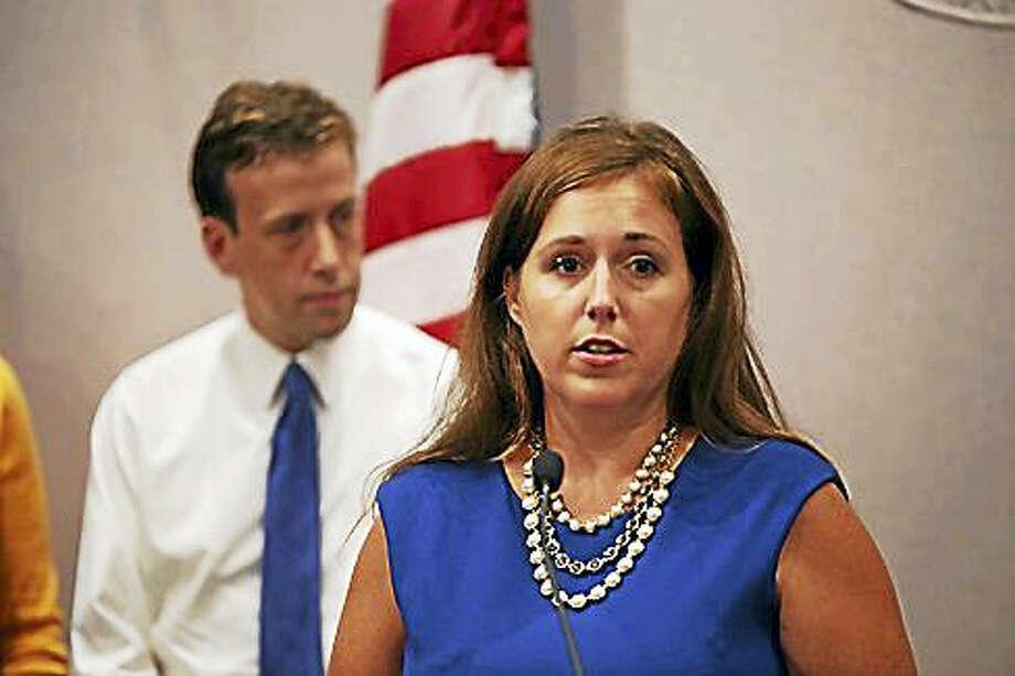 Sen. Mae Flexer, D-Killingly and Rep. Matt Lesser, D-Middletown. Photo: Christine Stuart / CTNewsJunkie