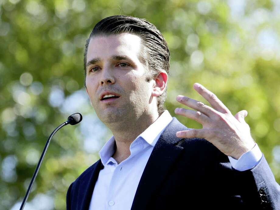 In this Friday, Nov. 4, 2016 photo, Donald Trump Jr. campaigns for his father Republican presidential candidate Donald Trump in Gilbert, Ariz. Donald Trump's eldest son, son-in-law and then-campaign chairman met with a Russian lawyer shortly after Trump won the Republican nomination, in what appears to be the earliest known private meeting between key aides to the president and a Russian. Representatives of Donald Trump Jr. and Jared Kushner confirmed the June 2016 meeting to The Associated Press, after The New York Times reported July 8, 2017 on the gathering of the men and Russian lawyer Natalia Veselnitskaya at Trump Tower. Photo: AP Photo — Matt York, File   / Copyright 2016 The Associated Press. All rights reserved.