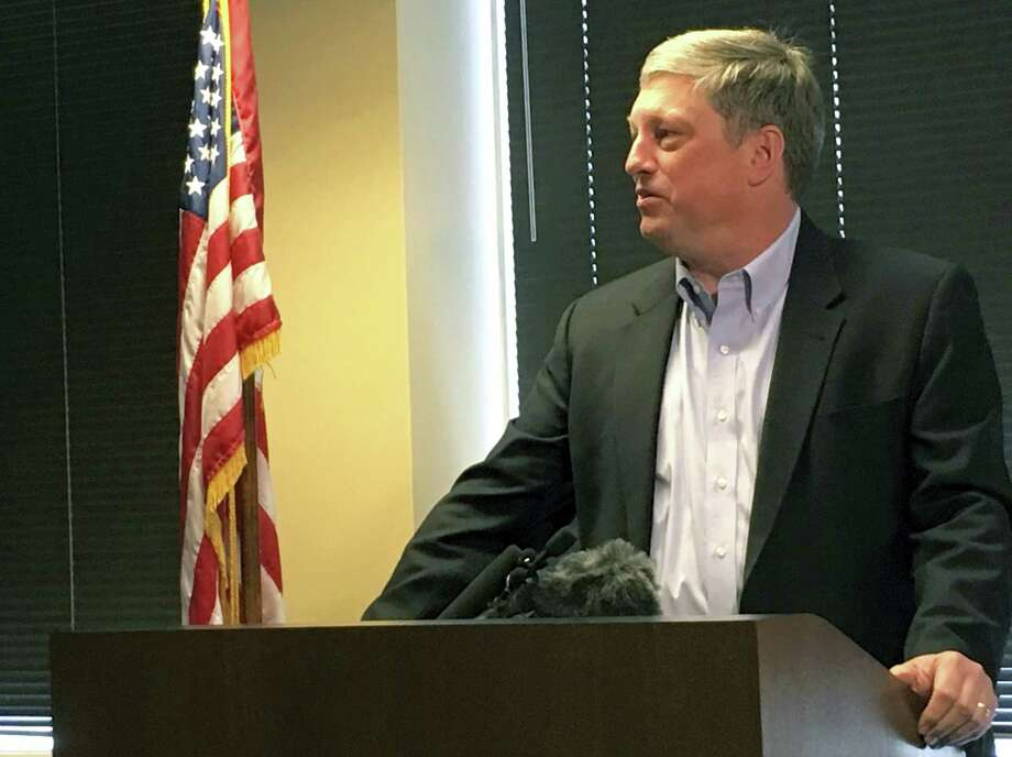Colorado Secretary of State Wayne Williams discusses his office's compliance with a federal panel's request for voter information on Wednesday, July 5, 2017 in Denver. Williams, a Republican, said anyone is entitled to voter registration data with certain exceptions under Colorado law. Photo: AP Photo/Jim Anderson    / Copyright 2017 The Associated Press. All rights reserved.