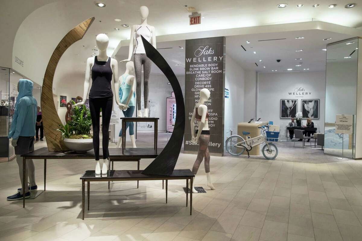 The Wellery on the second floor of the Saks Fifth Avenue flagship store in New York. Saks' New York flagship opened a 16,000-square-foot wellness sanctuary that offers 1,200 different fitness classes, a salt chamber and meditation classes alongside wellness merchandise.