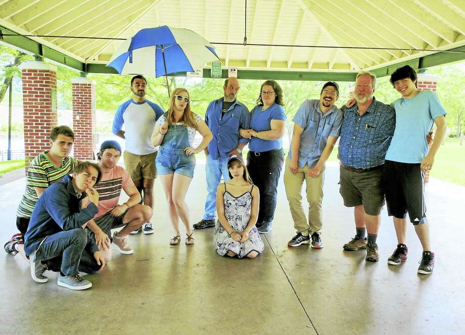 Cast and officials of Valley Shakespeare pause in the park. Photo: Photo Courtesy Of Valley Shakespeare