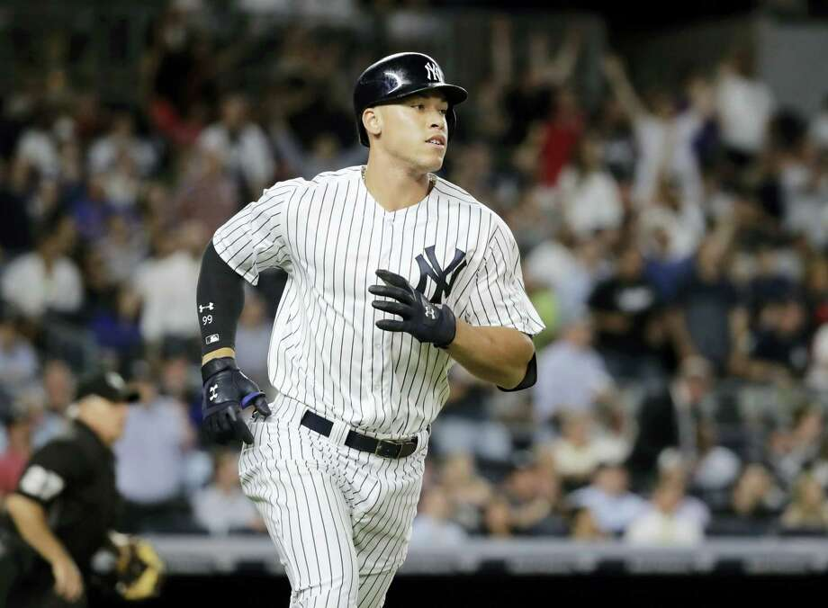 The Yankees' Aaron Judge runs the bases after hitting a home run against the Angels earlier this season. Photo: The Associated Press File Photo   / Copyright 2017 The Associated Press. All rights reserved.