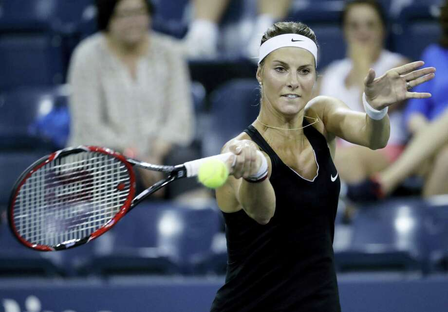 Mandy Minella revealed after her first-round loss to Francesca Schiavone on Monday that she is four months pregnant and will end her season once her run in the Wimbledon doubles tournament ends. Photo: The Associated Press File Photo   / Copyright 2016 The Associated Press. All rights reserved.
