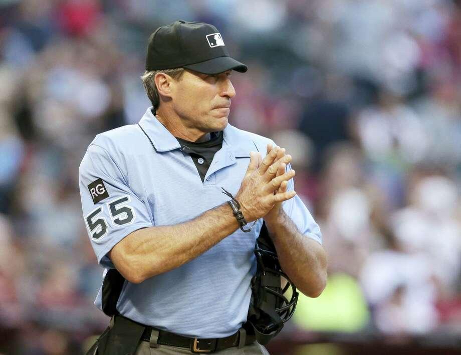 MLB umpire Angel Hernandez. Photo: The Associated Press File Photo   / FR157181 AP