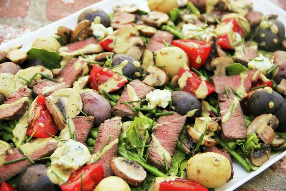 Meat and potatoes steakhouse salad. Photo: Melissa D'Arabian Via AP   / Melissa d'Arabian