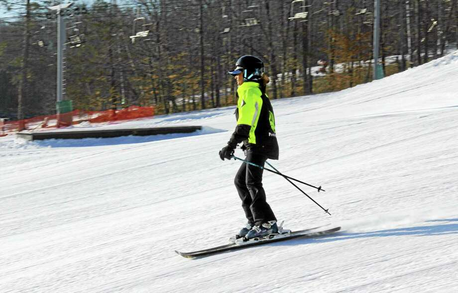 "Skiing at Powder Ridge on real snow will soon be supplemented with a year-round park that uses synthetic ""snow."" Photo: File Photo   / Kathleen Schassler All Rights"