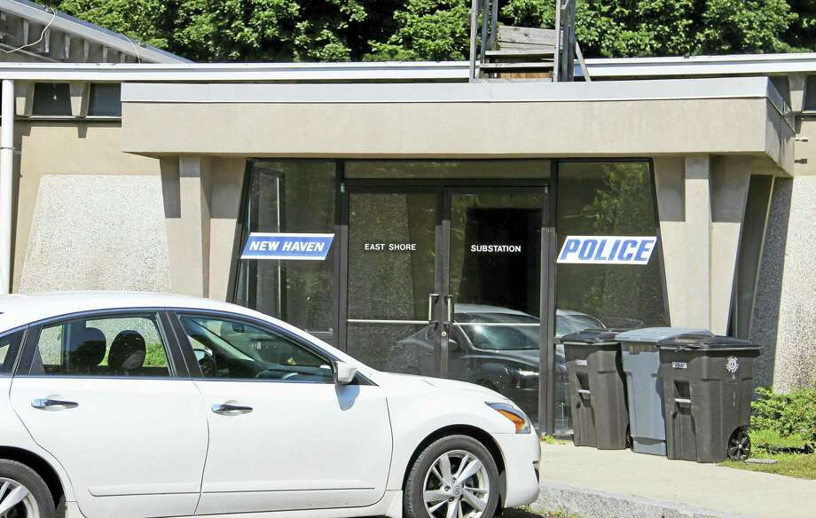 Esteban L. Hernandez / Hearst Connecticut Media   New Haven police's East Shore substation on Tuesday. The substation is the headquarters for District 9, whose former district manager is claiming he was reassigned from the position due to racial bias. Photo: Digital First Media