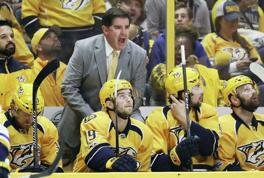 Nashville Predators head coach Peter Laviolette. Photo: The Associated Press File Photo   / Copyright 2017 The Associated Press. All rights reserved.