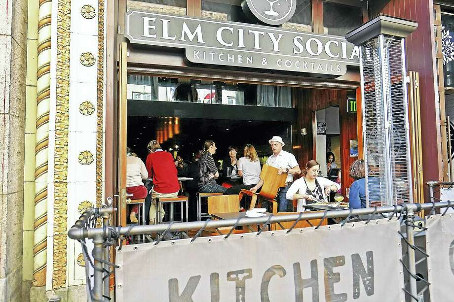Diners enjoy Elm City Social in good weather. Photo: Submitted Photo